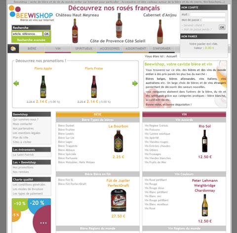 Beewishop bières et vins sur internet