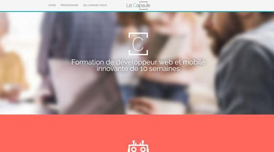 formation d u00e9veloppeur web avec la capsule academy