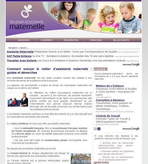 devenir assistante maternelle  un site pour les futurs