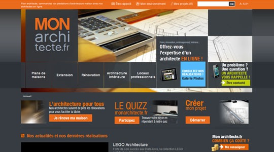 Monarchitecte l 39 architecture en ligne for Architecture en ligne